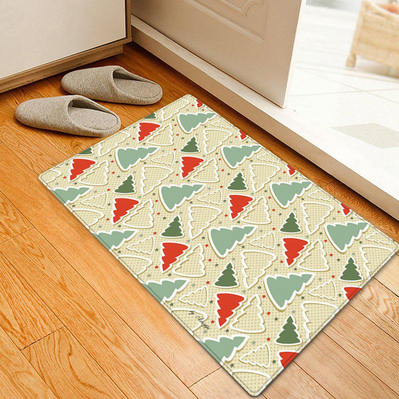 Christmas Cartoon Trees Pattern Indoor Outdoor Area Rug coloring of trees