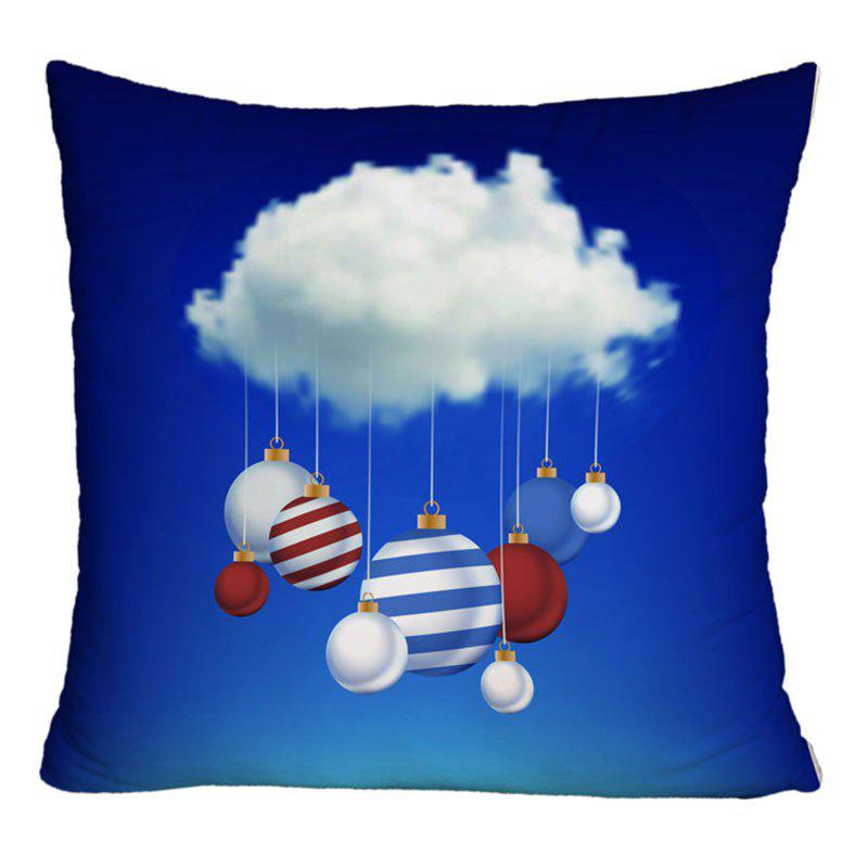 Cloud and Balls Pattern Decorative Throw Pillow Case - BLUE W18 INCH * L18 INCH