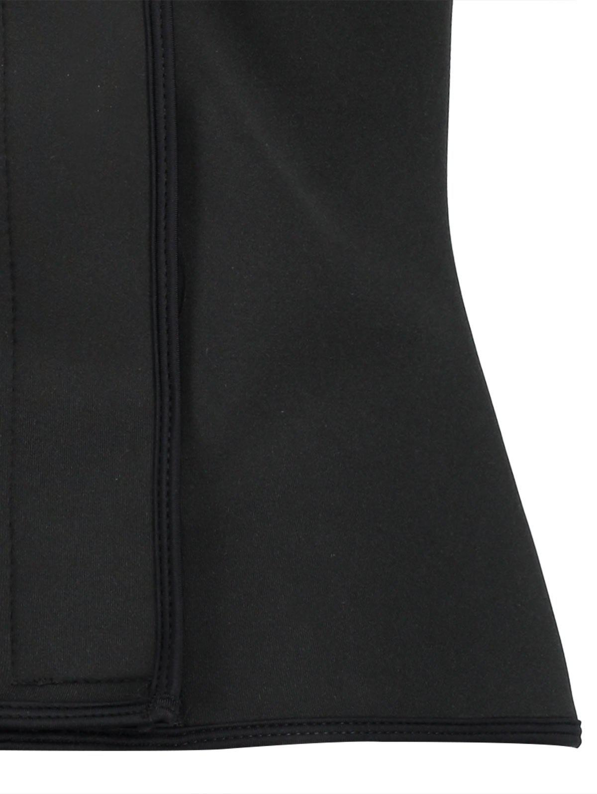 Plus Size Sports Waist Training Corset - BLACK 4XL