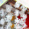 3 Pcs Christmas Tree Hanging Decorations Snowflakes - WHITE