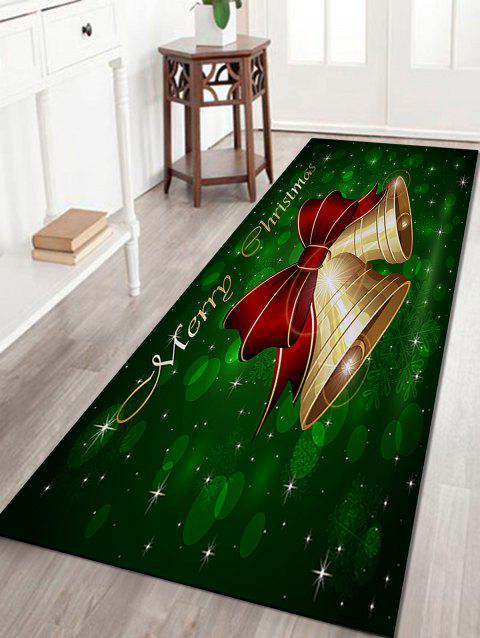 Christmas Bells Letter Pattern Indoor Outdoor Area Rug - COLORMIX W16 INCH * L47 INCH