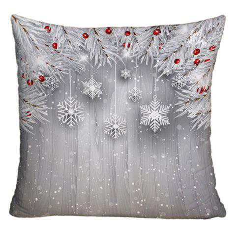 christmas decorative printed sofa throw pillow case silver w18 inch l18 inch - Christmas Decorative Pillows