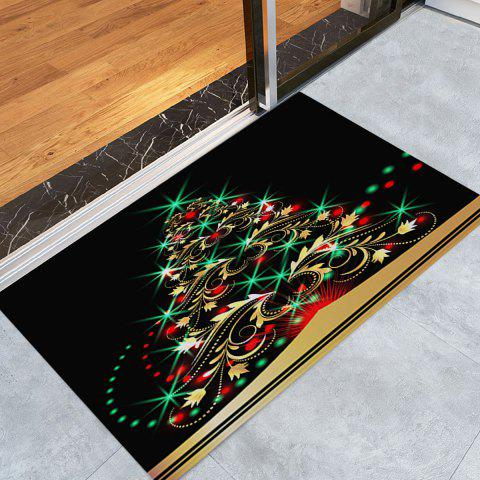 Christmas Tree Pattern Water Absorption Anti-skid Area Rug - COLORMIX W24 INCH * L35.5 INCH