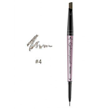 24 Hours Waterproof Automatic Double Headed Eyebrow Pencil - KHAKI