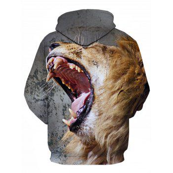 Lion Mouth 3D Print Pullover Hoodie - COLORMIX 3XL