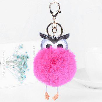 PU Leather Fur Owl Ball Keychain - TUTTI FRUTTI TUTTI FRUTTI