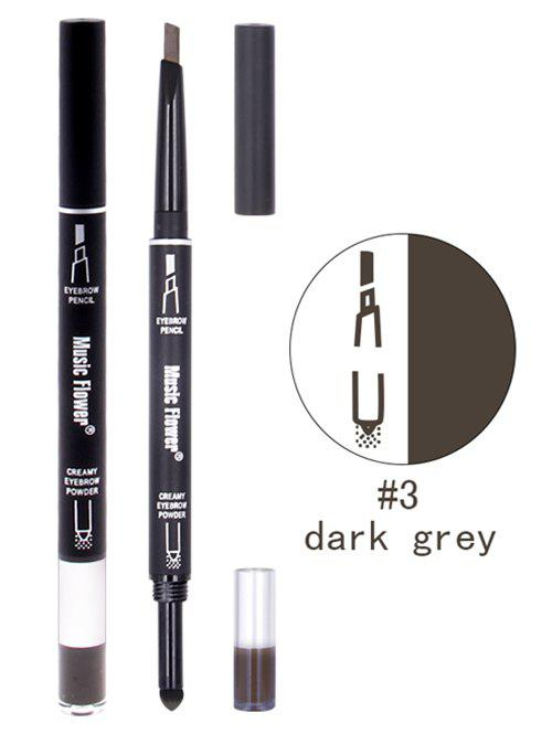 Professional Waterproof Long Lasting Eyebrow Pencil Powder Set - DARK GRAY