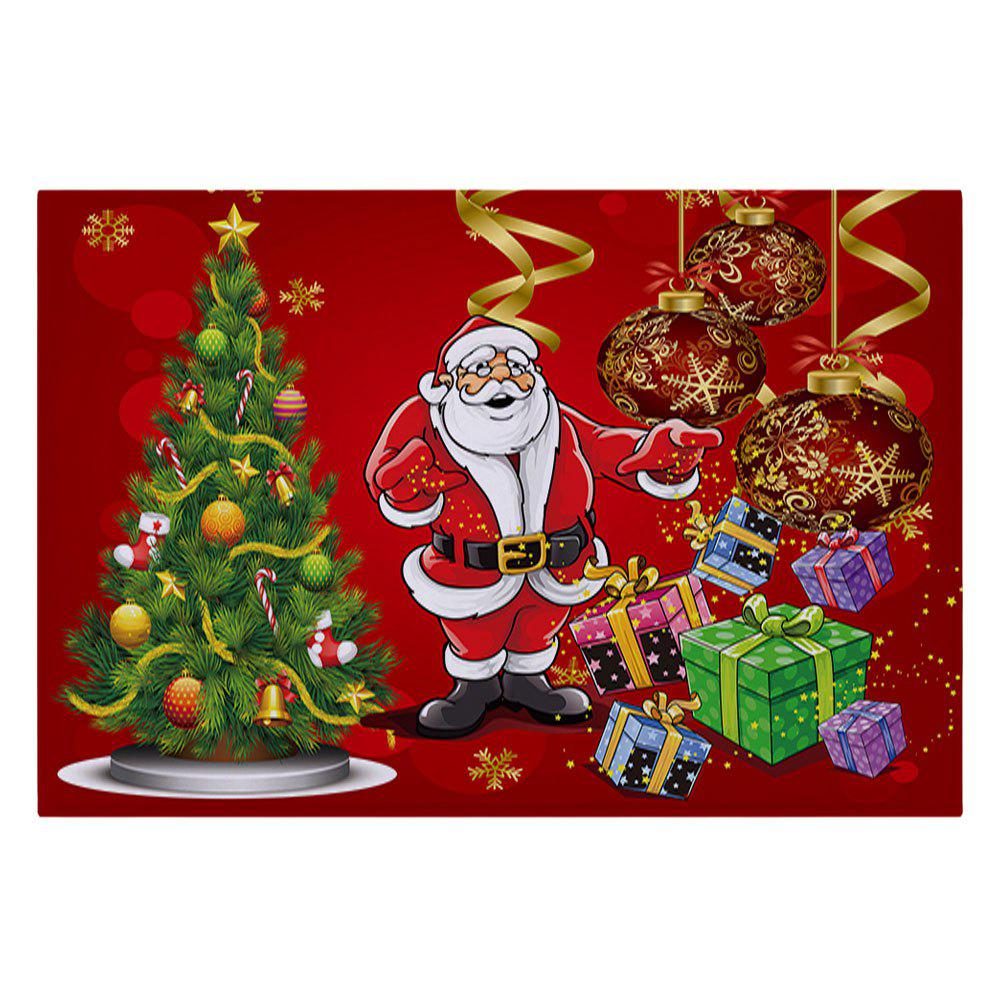 2018 christmas tree santa baubles pattern indoor outdoor for Outside christmas baubles