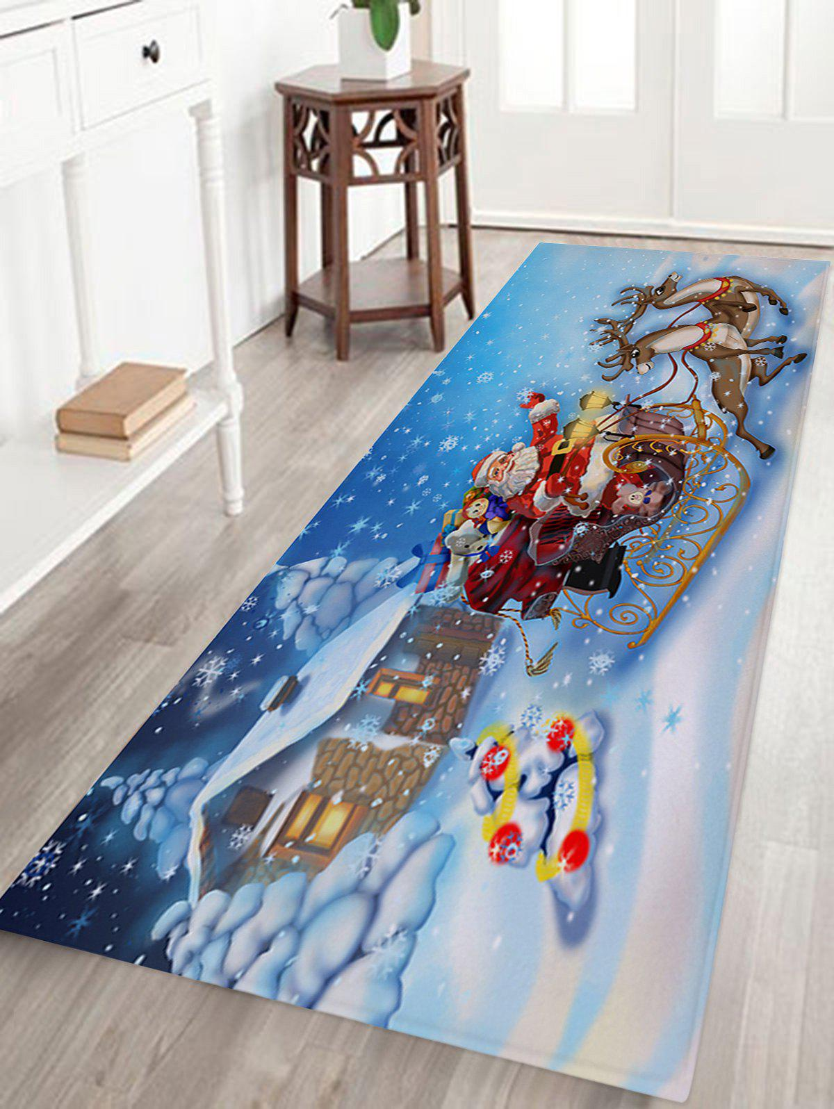 2018 Christmas House Santa Sleigh Pattern Indoor Outdoor Area Rug Colormix W Inch L Inch In Bath