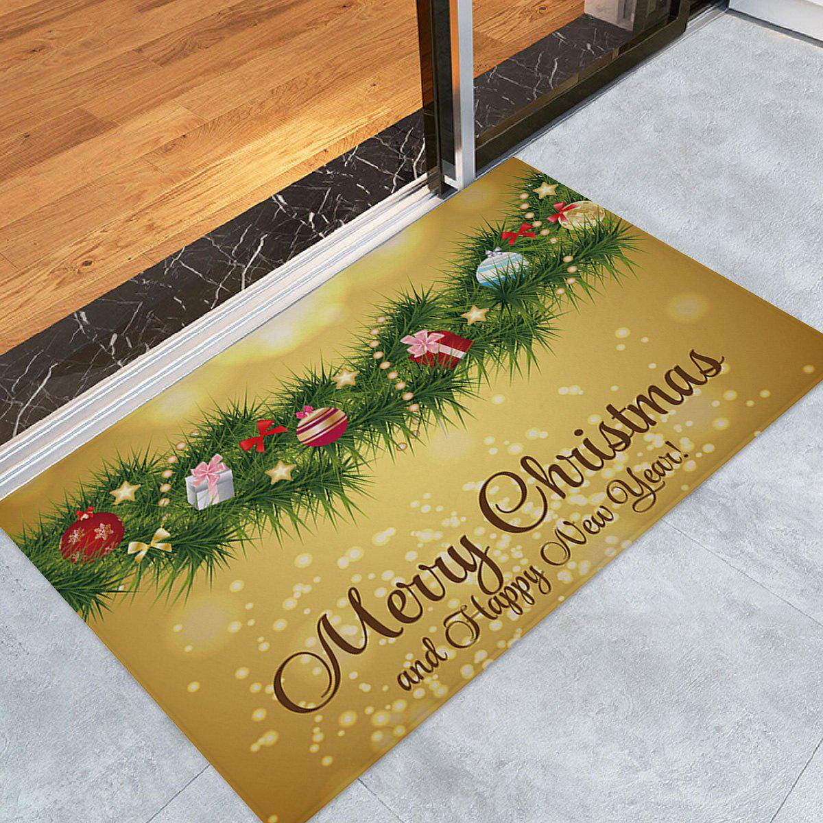 Christmas Pine Branches Pattern Indoor Outdoor Area Rug - COLORMIX W16 INCH * L24 INCH