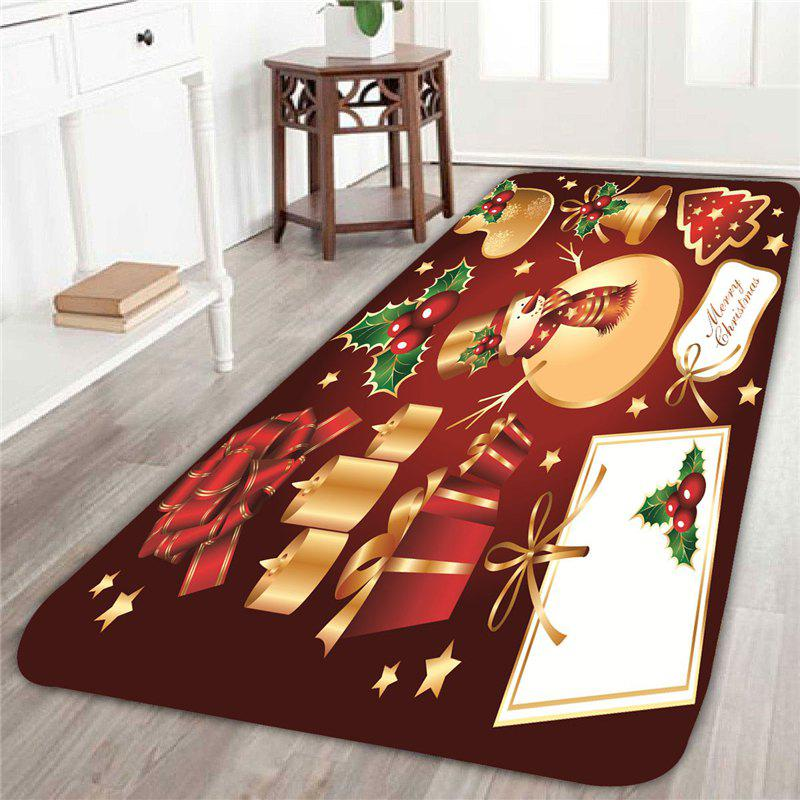Home Decor Snowman and Gift Pattern Skidproof Rug decor and gift