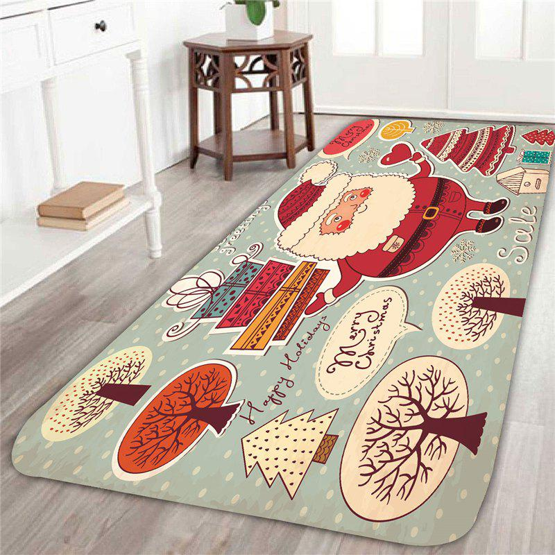 2018 santa claus and trees patterned home decor area rug for Home decorators rug sale