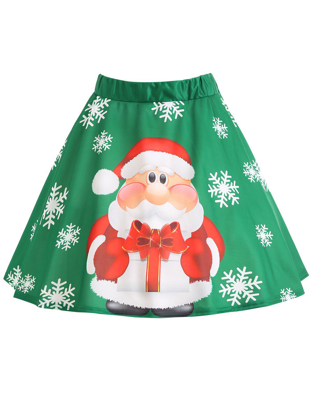 Christmas Santa Claus Snowflake Print Plus Size Skirt inflatable cartoon customized advertising giant christmas inflatable santa claus for christmas outdoor decoration