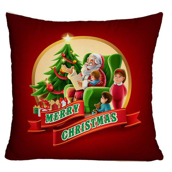 Santa Claus Tells Stories Christmas Decorative Pillow Case santa claus deer cushion throw pillow case