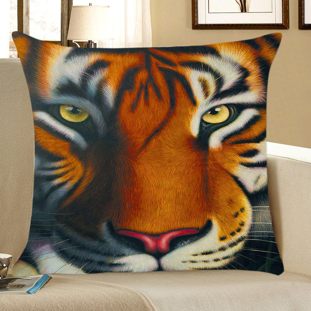 Tiger Printed Linen Pillow Case handpainted birds and leaf branch printed pillow case