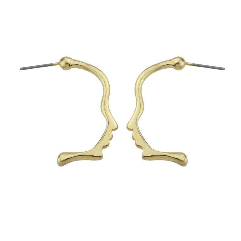 Alloy Funny Face Earrings - GOLDEN