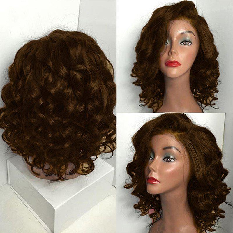 Short Deep Side Parting Shaggy Body Wave Bob Synthetic Wig от Dresslily.com INT