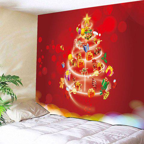 082cc4d49b9 Wall Hanging Gift Christmas Tree Pattern Tapestry - RED W79 INCH   L59 INCH