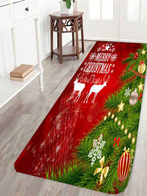 Christmas Tree Printed Antislip Rug - COLORFUL W24 INCH * L71 INCH