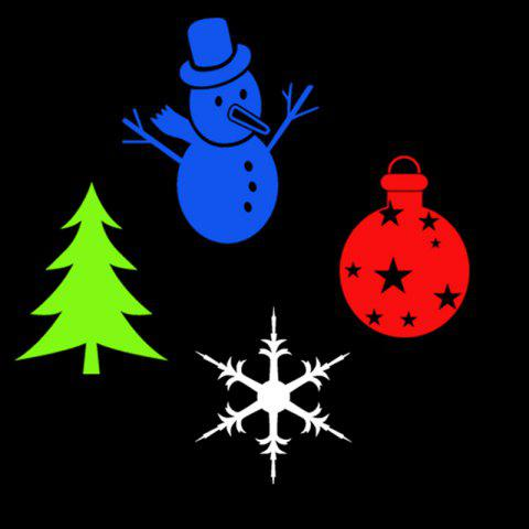 Party Decor Christmas Tree Snowman Baubles Pattern Projector Light Bulb