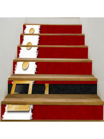Christmas Belt Printed Home Decor Stair Stickers