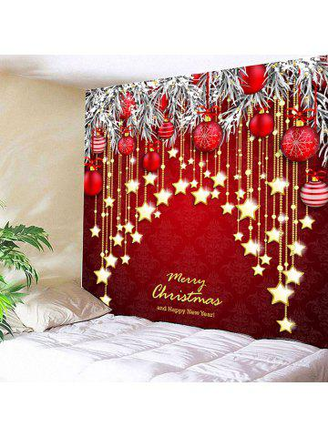christmas ball and star print wall hanging tapestry