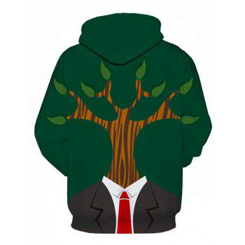 Tree Man 3D Print Pullover Hoodie - COLORMIX 2XL