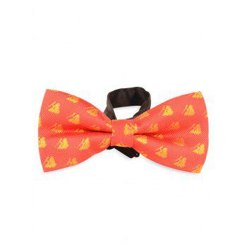 Novelty Christmas Bowtie with Christmas Trees Decorated - RED RED