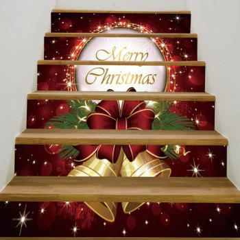 6Pcs Christmas Bells Pattern Stair Stickers