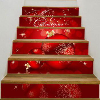 Christmas Ornaments Balls Pattern Staircase Stickers