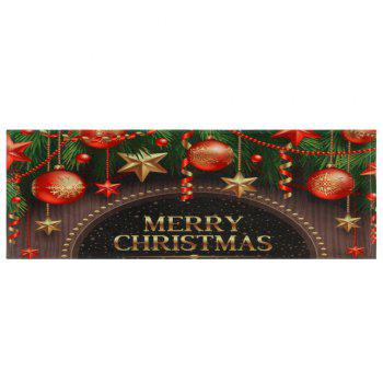 Christmas Decorations Print Coral Fleece Antiskid Bath Rug - COLORMIX W24 INCH * L71 INCH