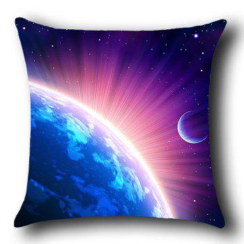Cosmic Starlight Printed Linen Throw Pillow Case - BLUE/PURPLE BLUE/PURPLE