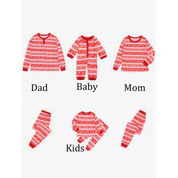Fair Isle Printed Matching Family Christmas Pajama - RED RED
