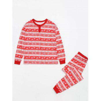 Fair Isle Printed Matching Family Christmas Pajama, RED, BABY M in ...