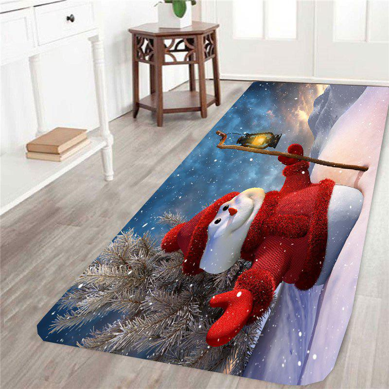 Christmas Snowman Pattern Skid Resistant Rug - COLORFUL W24 INCH * L71 INCH