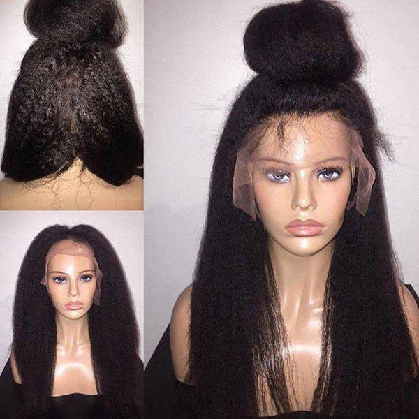 Long Free Part Fluffy Yaki Straight Synthetic Lace Front Wig long free part fluffy kinky curly synthetic lace front wig