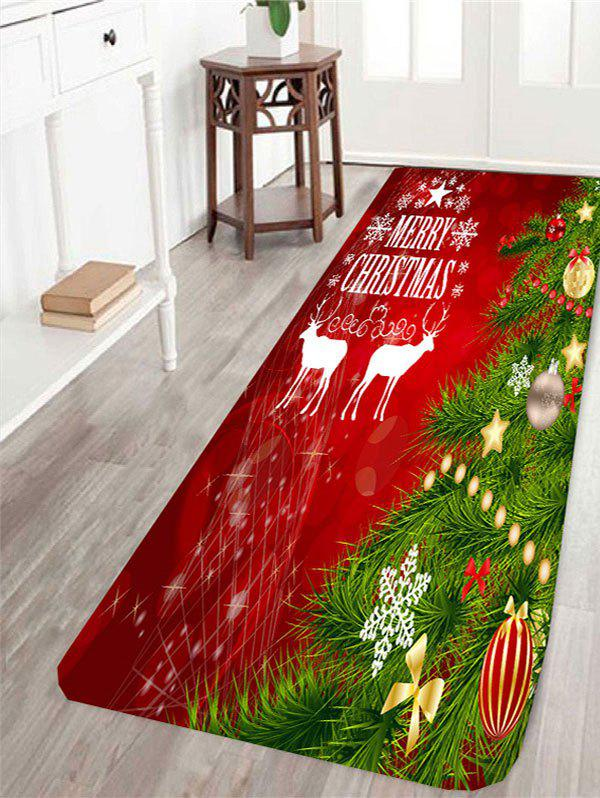 Christmas Tree Printed Antislip Rug цена