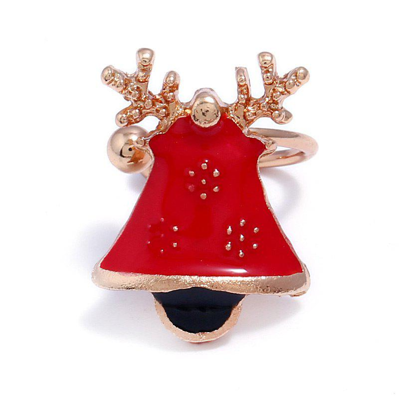 ONE PIECE Alloy Christmas Deer Bell Ear Cuff