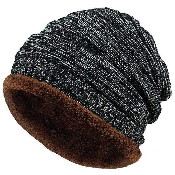 Velvet Colormix Pattern Crochet Knitted Slouchy Beanie 6pcs cheap crochet slouchy beanie women winter hats unisex knitted baggy beanies fashion oversized knitting beanies skull caps