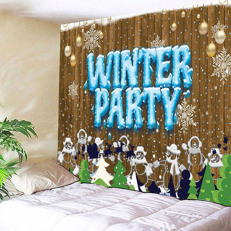 Christmas Snowmen Winter Party Printed Wall Tapestry ultimate