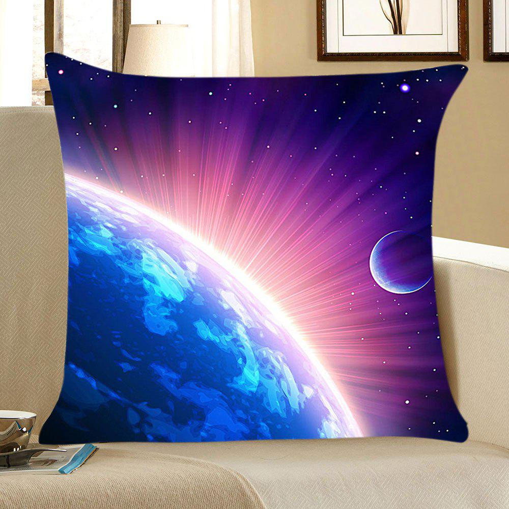 Cosmic Starlight Printed Linen Throw Pillow Case - BLUE/PURPLE W18 INCH * L18 INCH