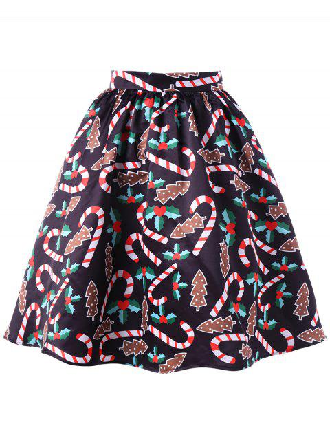 Graphic Christmas Flare Skirt - COLORMIX XL