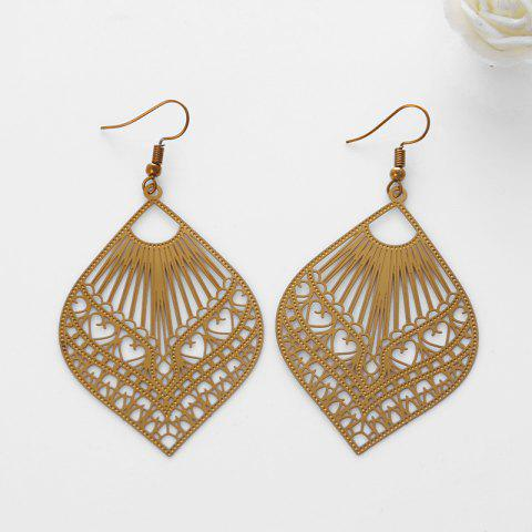 Leaf Hook Earrings - GOLDEN