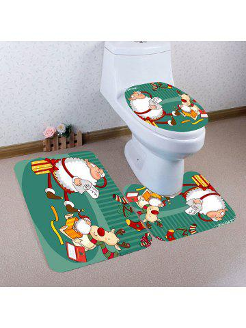 2018 Christmas Bathroom Mats Set Online Store Best Christmas