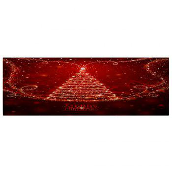 Christmas Star Tree Letter Pattern Indoor Outdoor Area Rug - RED W16 INCH * L47 INCH