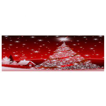 Christmas Tree House Pattern Indoor Outdoor Area Rug - RED W24 INCH * L71 INCH