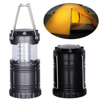 Outdoor Retractable Portable LED Camping Lantern Flashlight - BLACK BLACK