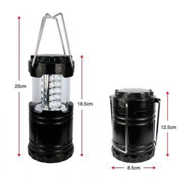 Outdoor Retractable Portable LED Camping Lantern Flashlight - BLACK