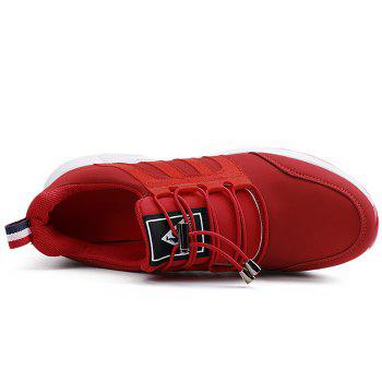 Air Cushion Tie Up Sneakers - RED 40