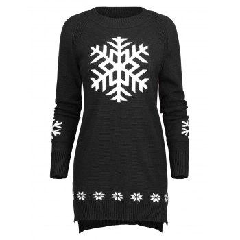 Long Christmas Snowflake Sweater